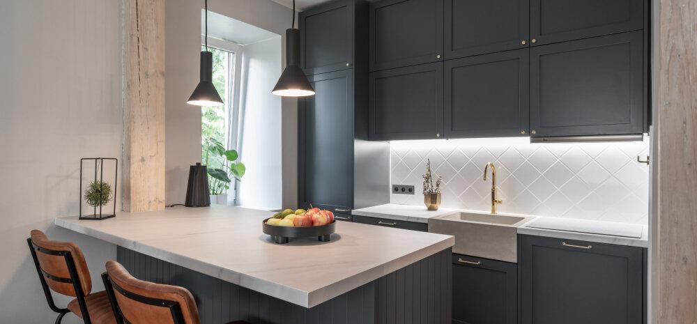 """FOTOVÕISTLUS """"Minu stiilne köök""""   Värskelt renoveeritud köök, kus kohtuvad vana ja uus"""