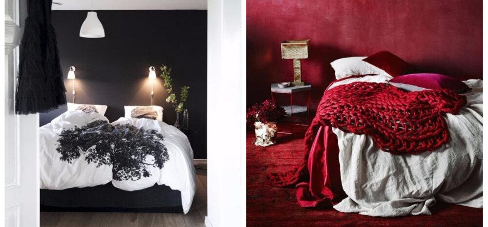 Neli värvitooni, mis toovad magamistuppa kire