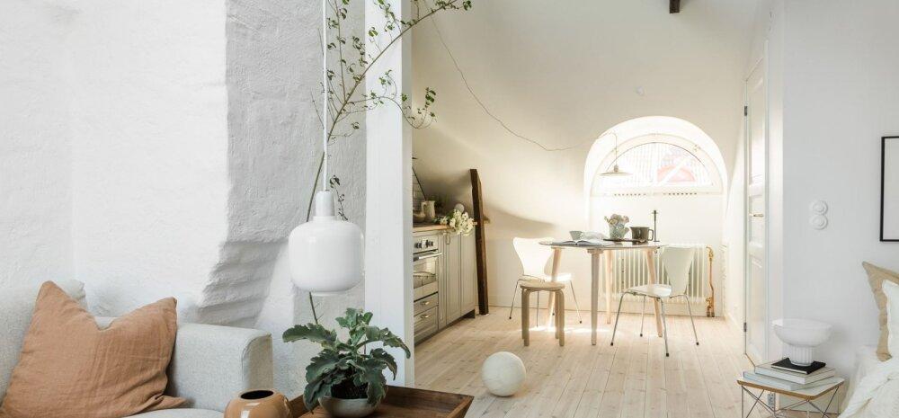 FOTOD | Pisike ja põhjamaine kodu pööningukorrusel võlub laheda sisekujundusega