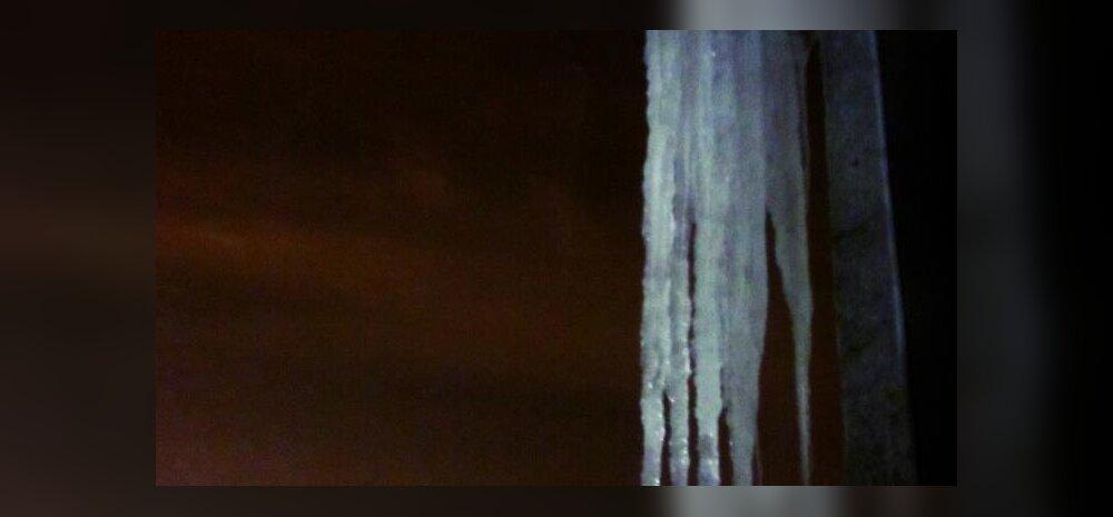 FOTO: Hirmuäratav jääpurikas lugeja akna taga