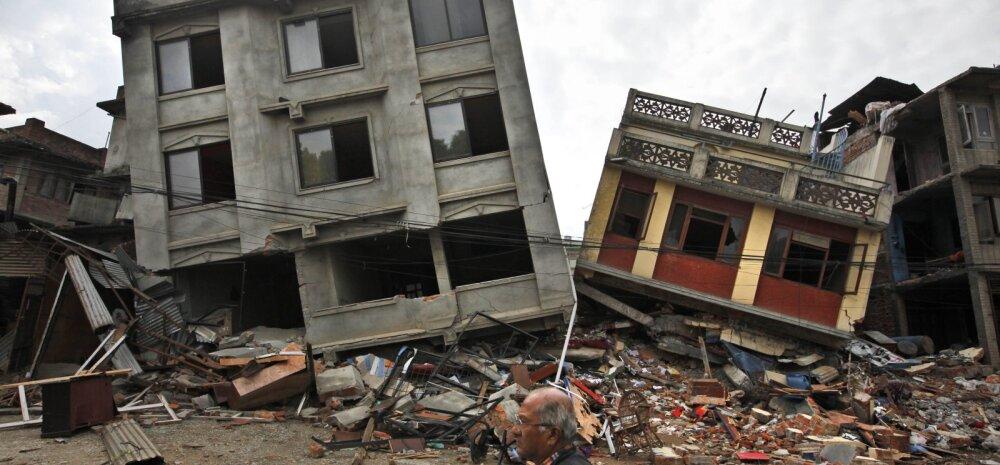 Maavärina purustused Katmandus.