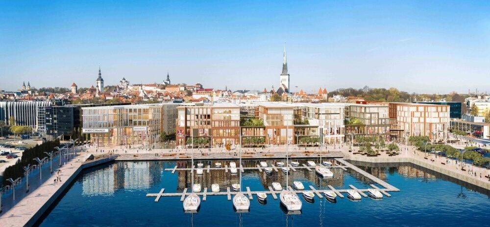 ВИДЕО | Проект за 18 млн евро: у Таллиннского порта построят торговый центр, отель и ресторан с видом на пристань