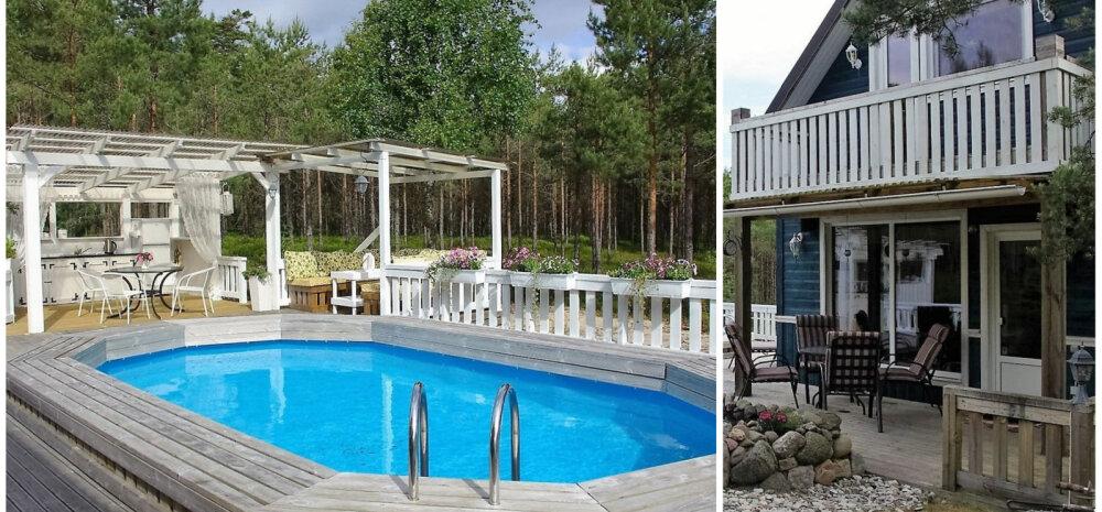 ФОТО │ Все прелести летнего проживания: загородный дом с бассейном и кухней во дворе
