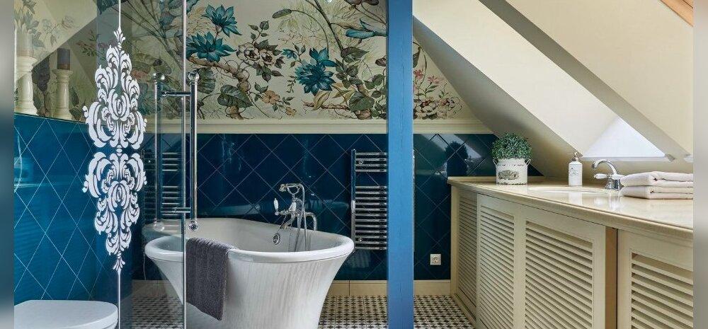 ФОТО   Как оформить стены в ванной без плитки?