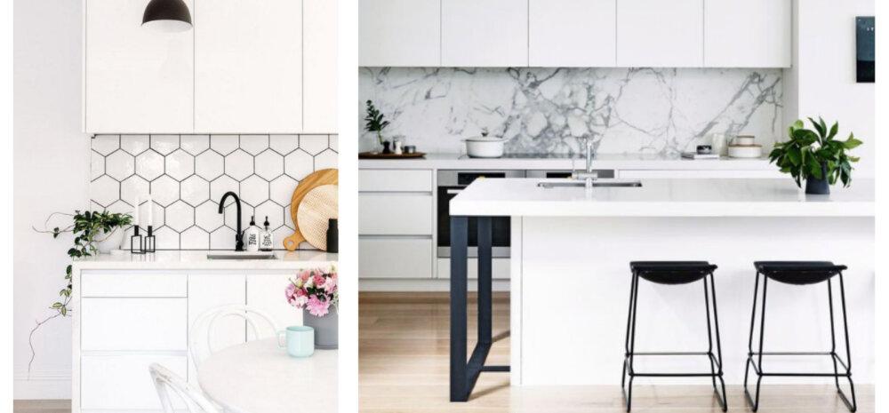 FOTOD | 15 inspireerivat ideed, kuidas kujundada helge ja valge köök