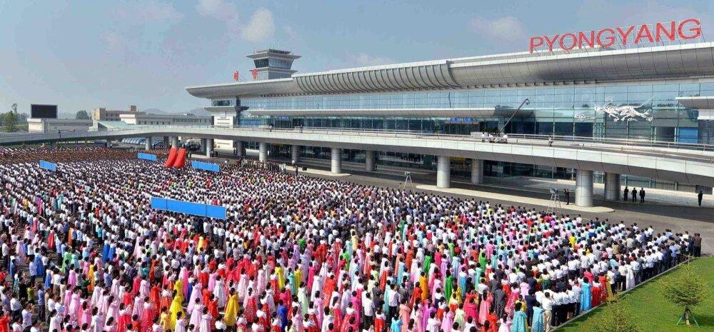 NKOREA-AVIATION-AIRPORT-TOURISM-LIFESTYLE