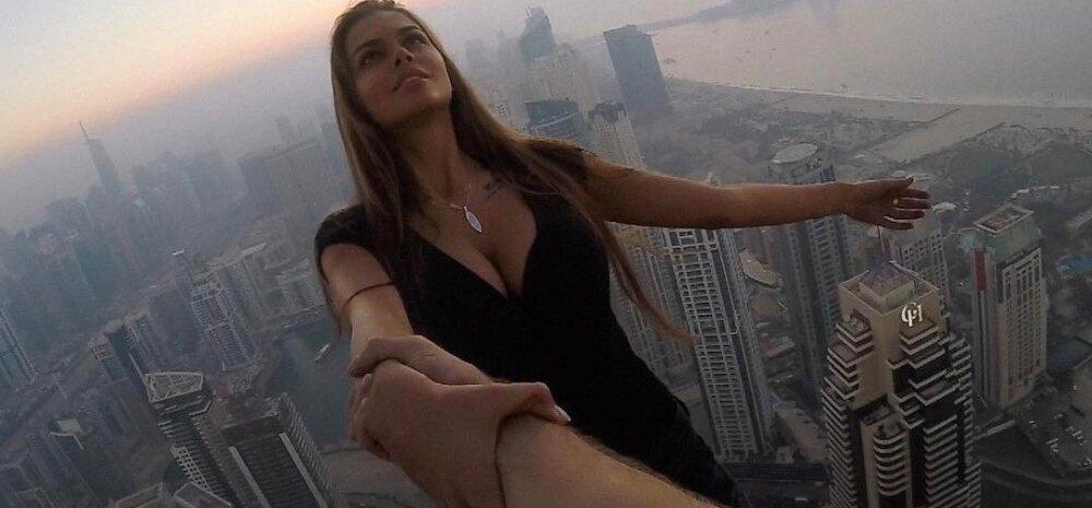 Mida kõike kuulsuse nimel ei tehta! Instagrami-täheke kõõlus igasuguste abivahenditeta pilvelõhkuja serval