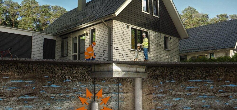 Maja vundamendi tõstmine on muudetud lihtsaks, kiireks ja tööle antakse eluaegne garantii.