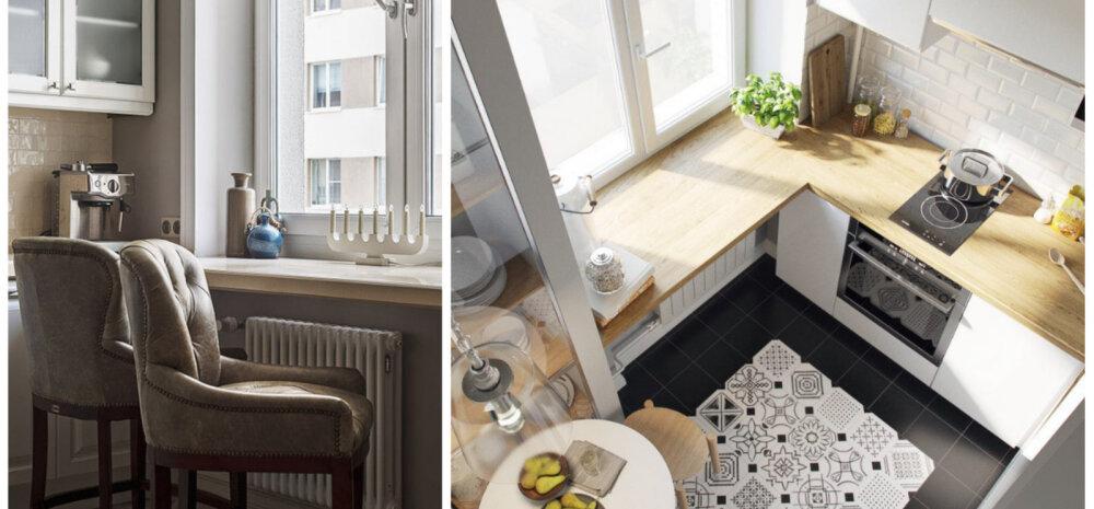 ФОТО | Как правильно обыграть подоконник на кухне