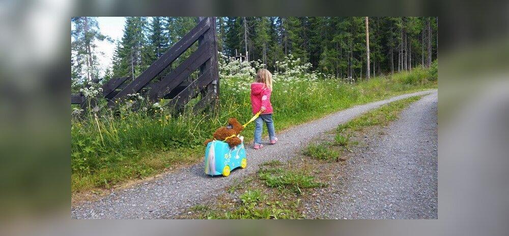 EKSPERIMENT: laps pakib ise oma reisikohvri