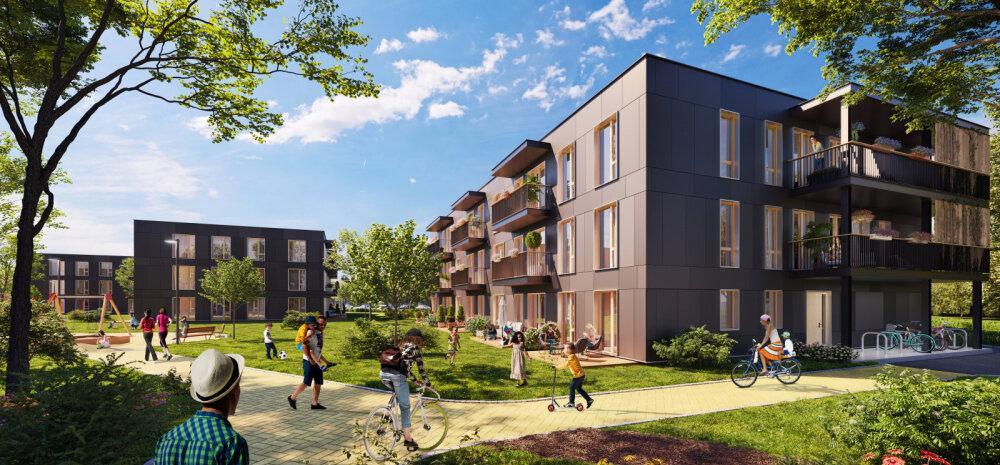 Уютная и расположенная близко к городу жилая среда в Кеск-Пеэтри открывает широкие возможности для молодых семей