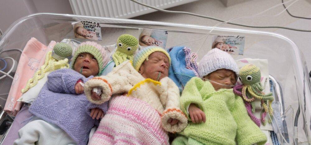 Keskhaigla Sünnitusmajas tulid ilmale enneaegsed kolmikud