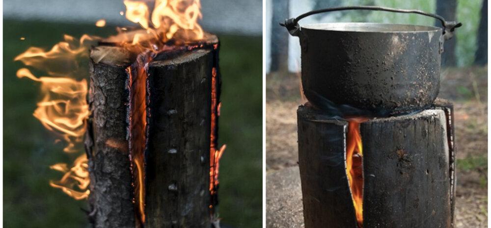 ВИДЕО | «Шведский факел» — потрясающая уловка, которая пригодится отдыхающим на природе!