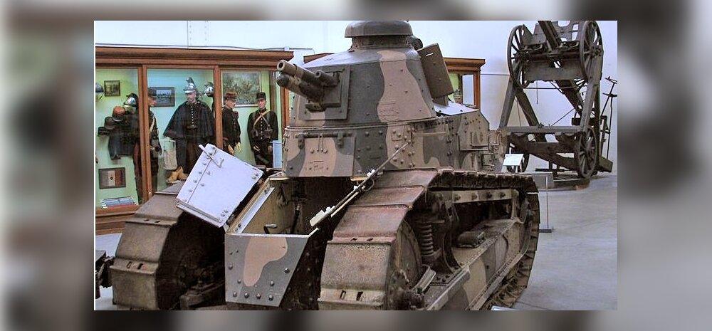 Too tilluke Prantsuse rauamürakas oli esimene tõsiseltvõetav tank. Ka Eesti relvastuses