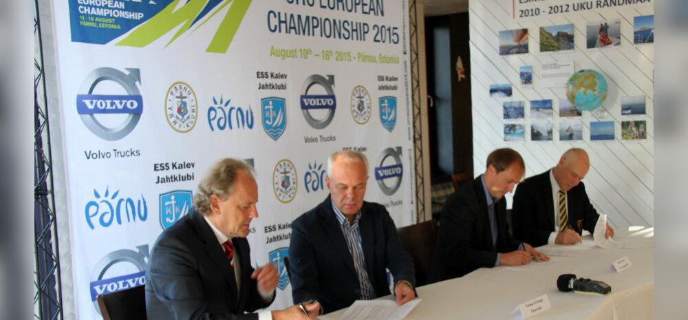 Nimesponsori lepingu allakirjutamine Volvo Trucksi esindava Volvo Estonia OÜ-ga