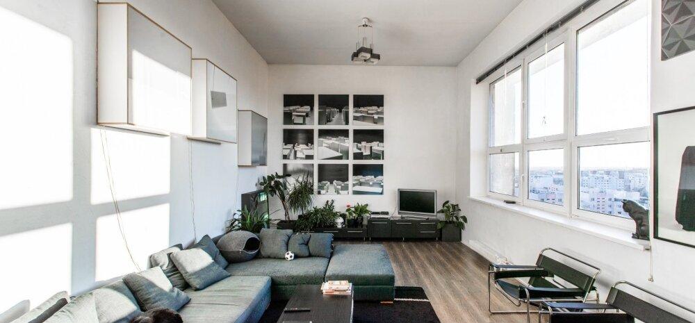 ФОТО | В обычной ласнамяэской панельке расположился необыкновенно стильный лофт с огромными окнами