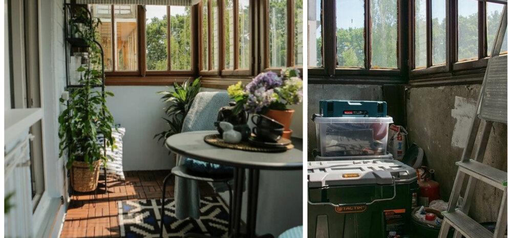 ДО И ПОСЛЕ | Продумано до мелочей: балкон как дополнительная комната в небольшой квартире