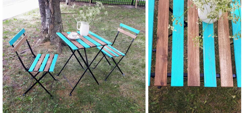 TEE ISE │ Anname vanale aiamööblile uue ja värvika välimuse