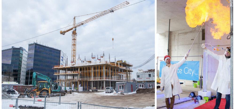 ФОТО | В Ülemiste City заложили краеугольный камень нового 12-этажного офисного здания
