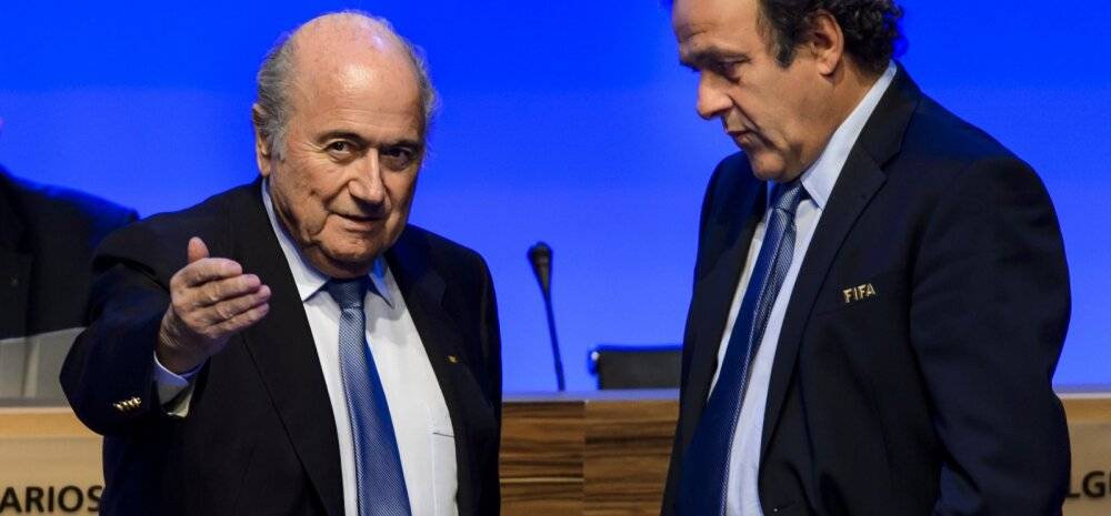 Joseph Blatter ja Michel Platini