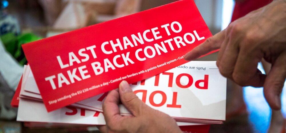 Suurbritannia valis Brexiti hääletusel piiride üle kontrolli tagasivõtmise, mitte majandusliku kollapsi.