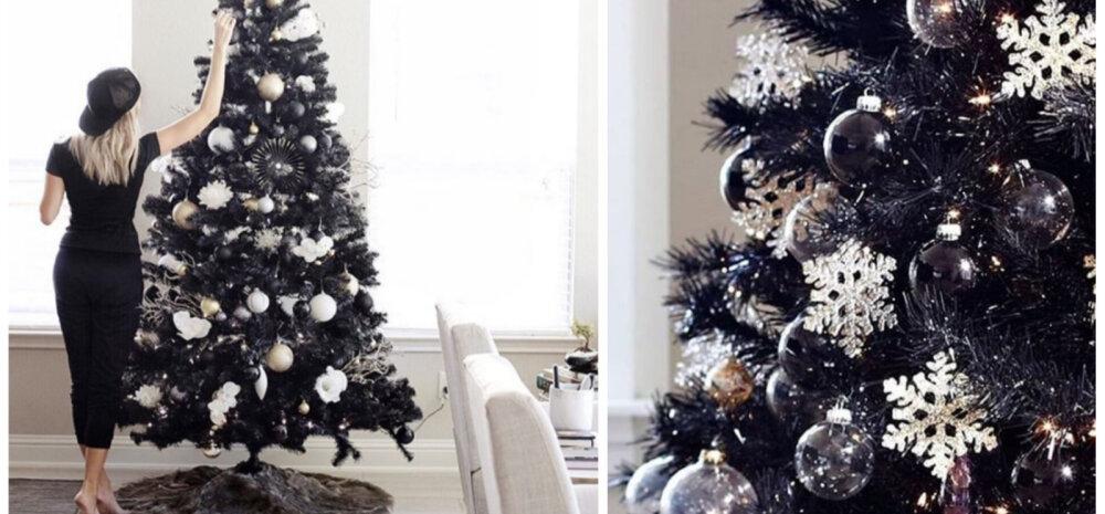 FOTOD | Uus kuum trend — musta värvi jõulupuu