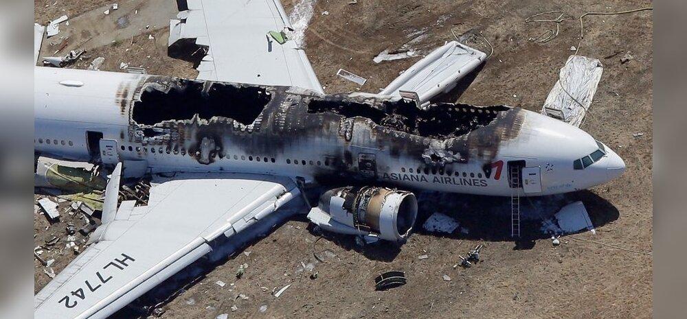 Asiana Airlinesi pilooti pimestas valgusvihk