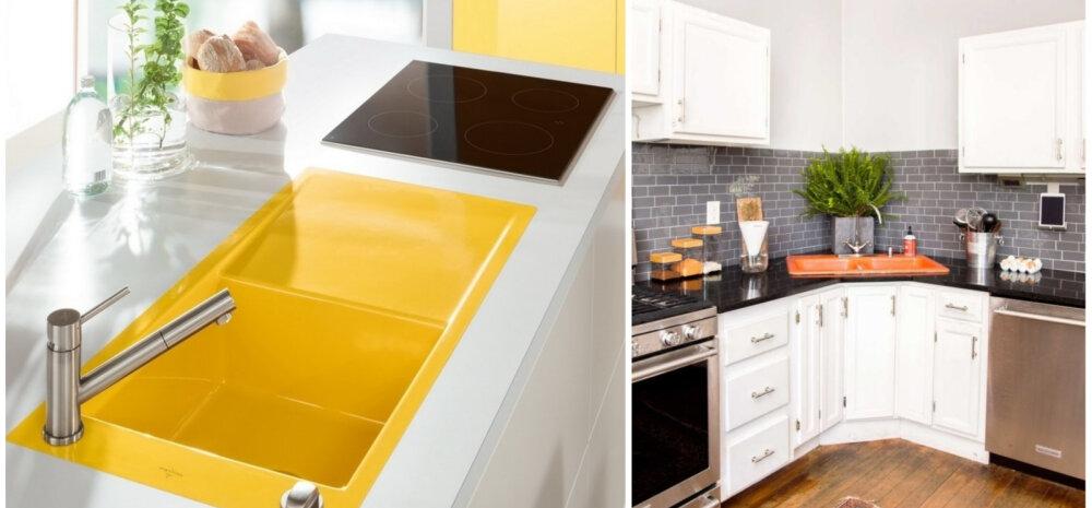 Цветная раковина — самый модный тренд в дизайне кухни в 2019 году