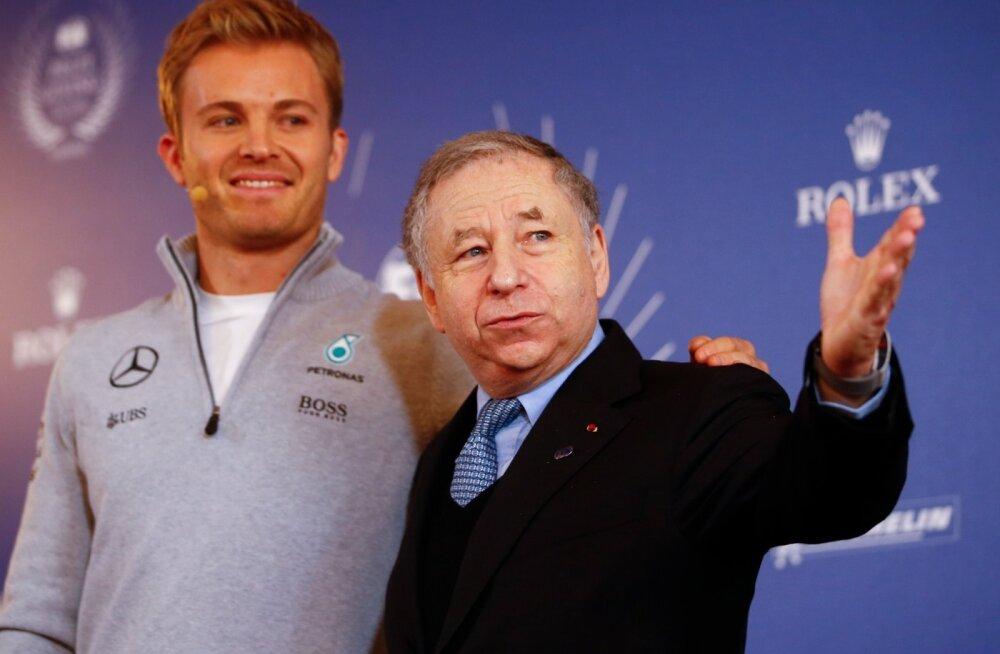 FIA president Jean Todt (paremal) koos Nico Rosbergiga.