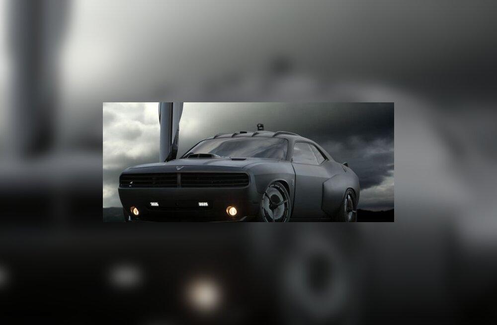 Dodge Challenger Vapor - USA õhujõudude jõudemonstratsioon muskelauto vahendusel