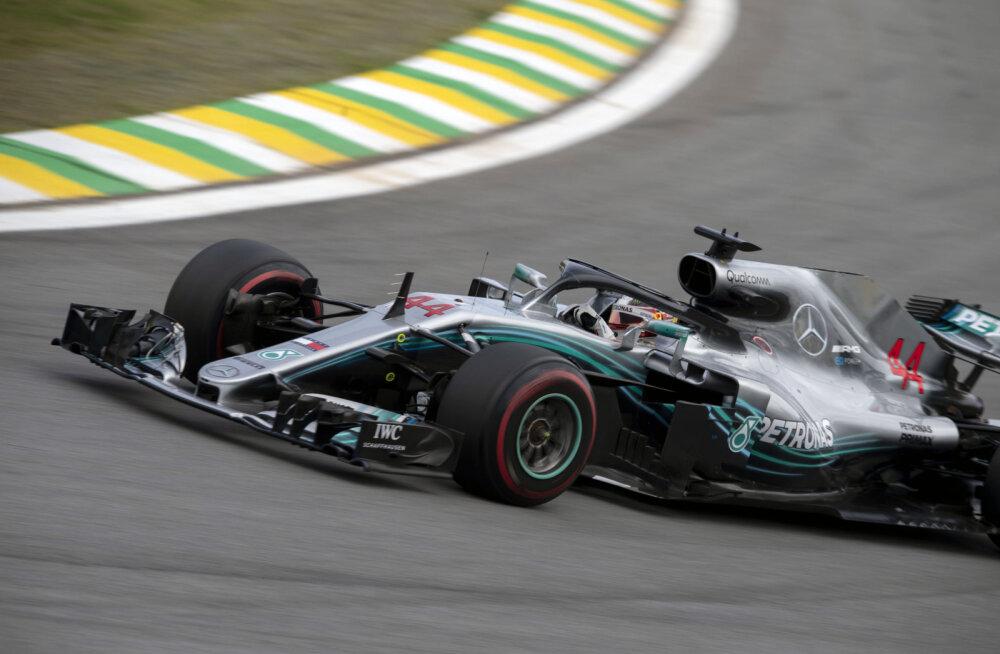 Lewis Hamilton oli Brasiilia GP-l katastroofi äärel
