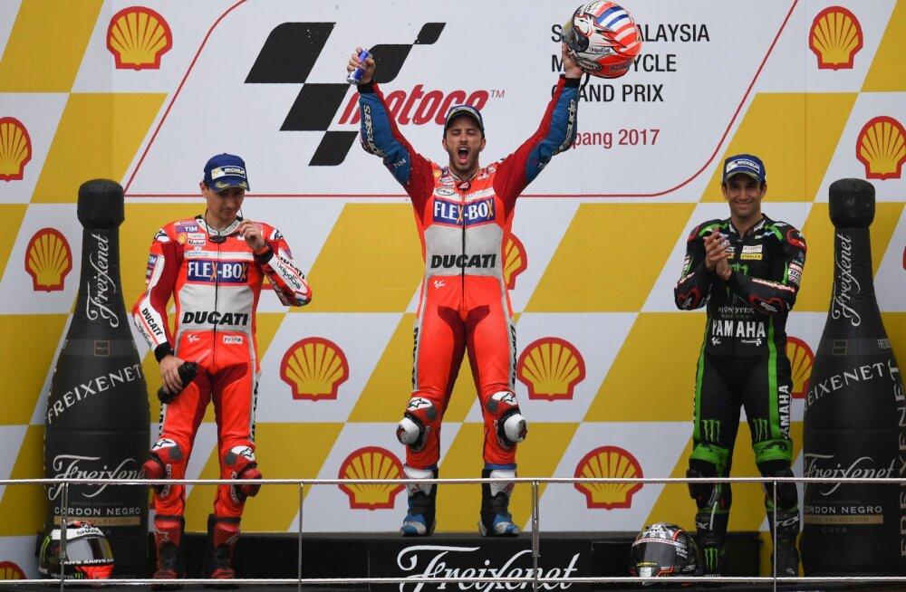 VIDEO   Marquezi ja Dovizioso kokkupõrge oli lähedal, kuid maailmameister selgub viimasel etapil!