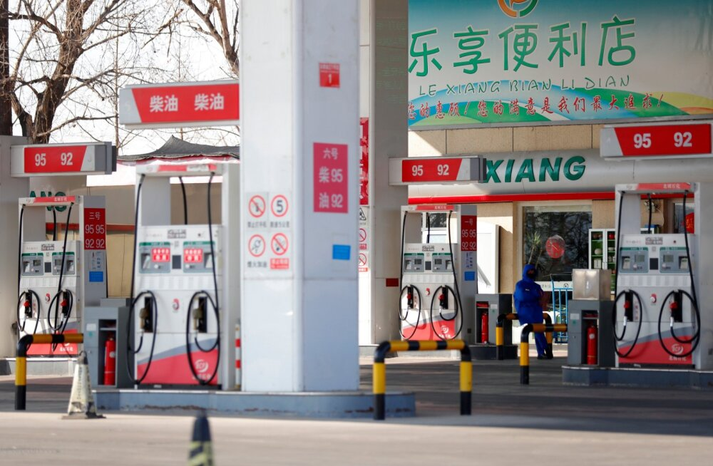 Tühi tankla Pekingis.
