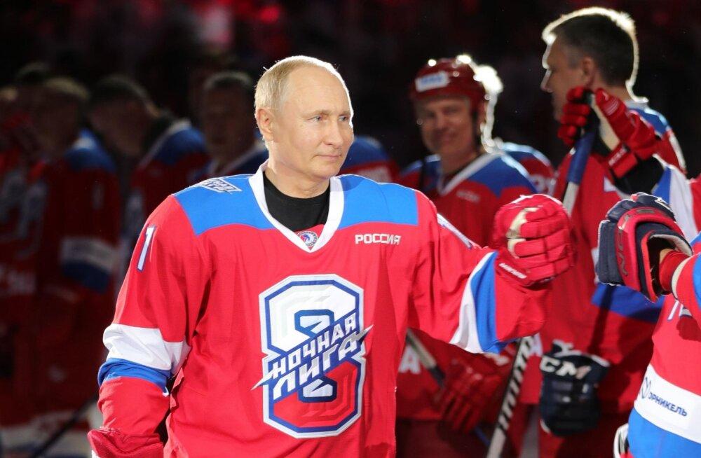 VIDEO | Hokilegendidega koos mänginud Vladimir Putin lõi vähemalt 8 väravat ja lendas ninali