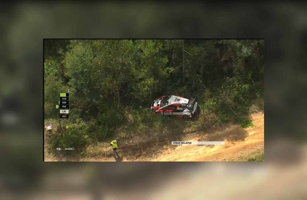 VIDEO | Vaata avariid, mis maksis Jari-Matti Latvalale Austraalias teise koha!