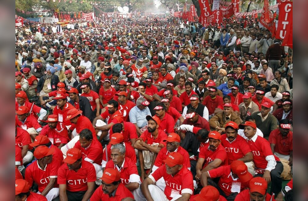 India pealinnas protestivad tuhanded toiduainete hinnatõusu vastu