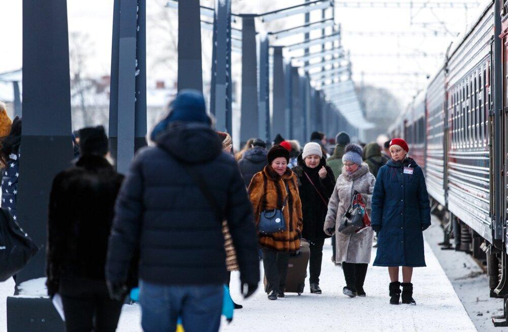 Vene turistide saabimine Tallinnasse