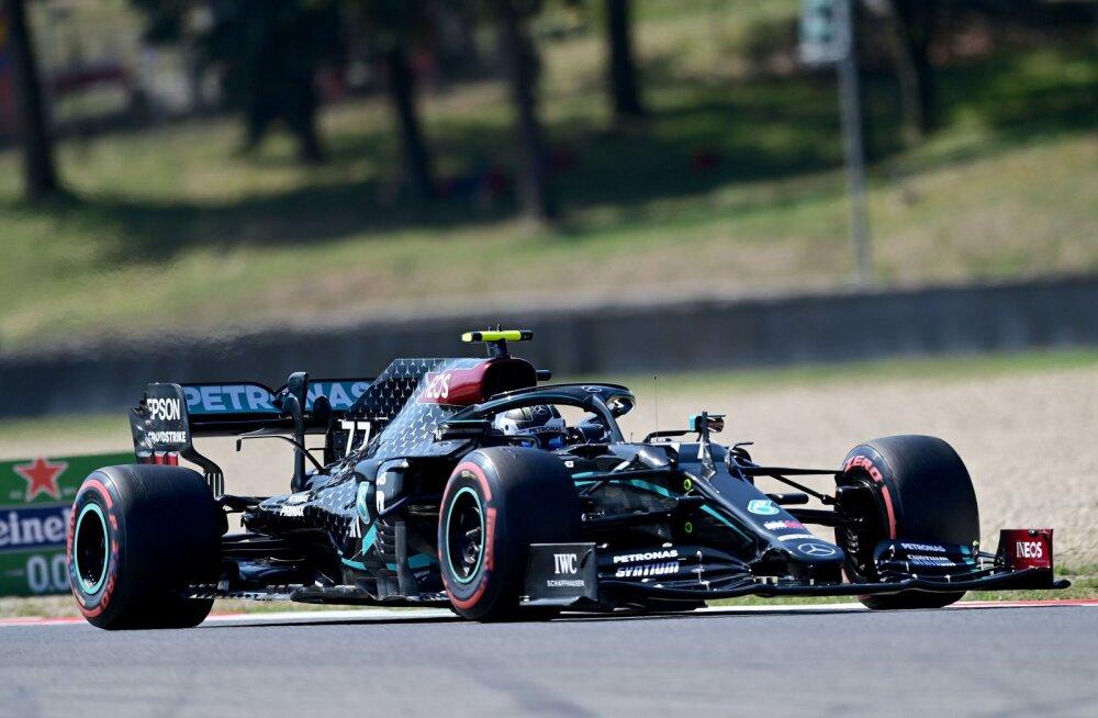 F1: Bottas oli taas kiireim, esikolmikut lahutas vähem kui kümnendik
