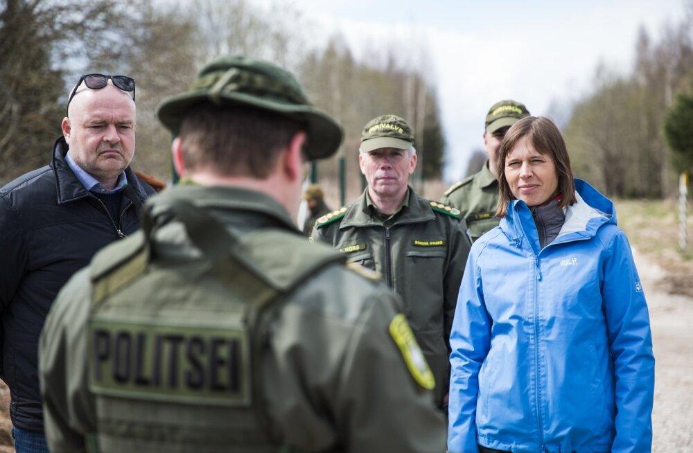 President Eesti–Vene piiril.