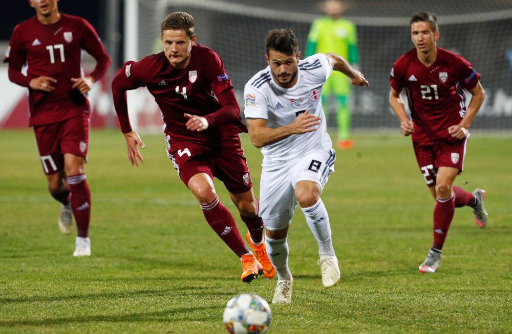 Läti vutikriis sai taas jätku: kodus kaotati Gruusiale 0:3! Tilluke Gibraltar võttis samal ajal teise võidu järjest