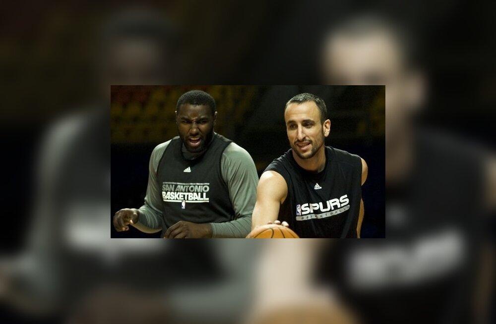 "Emanuel ""Manu"" Ginóbili (esiplaanil), San Antonio Spurs, NBA, korvpall"
