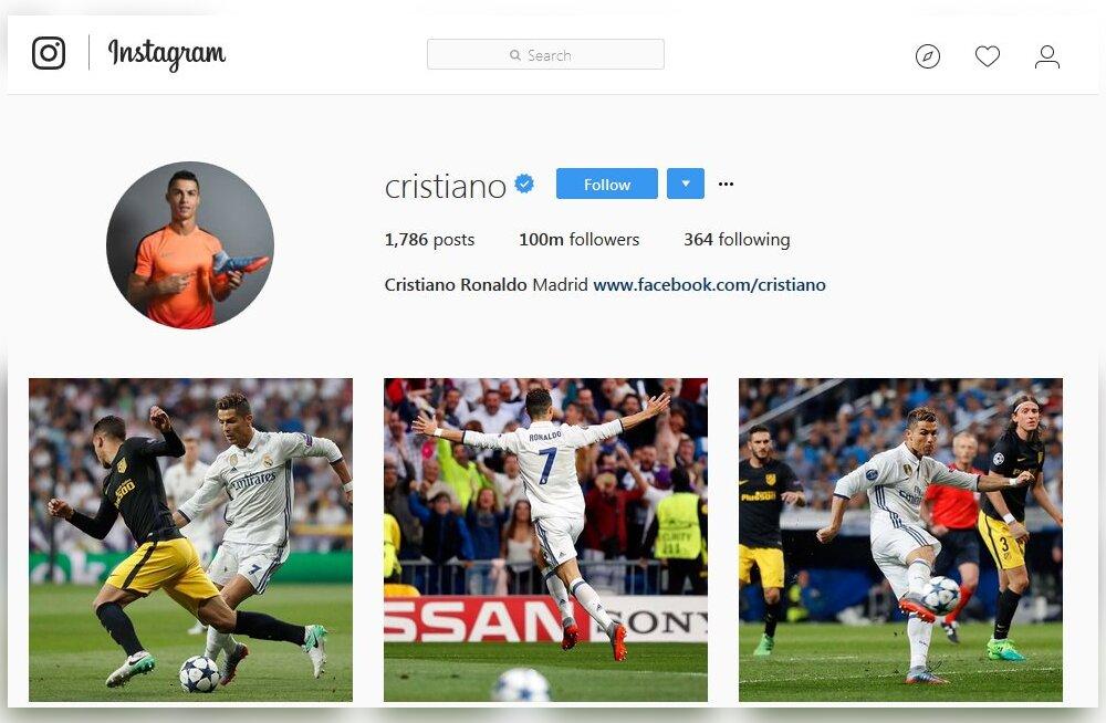 Esimene mees jõudis Instagramis 100 miljoni jälgijani