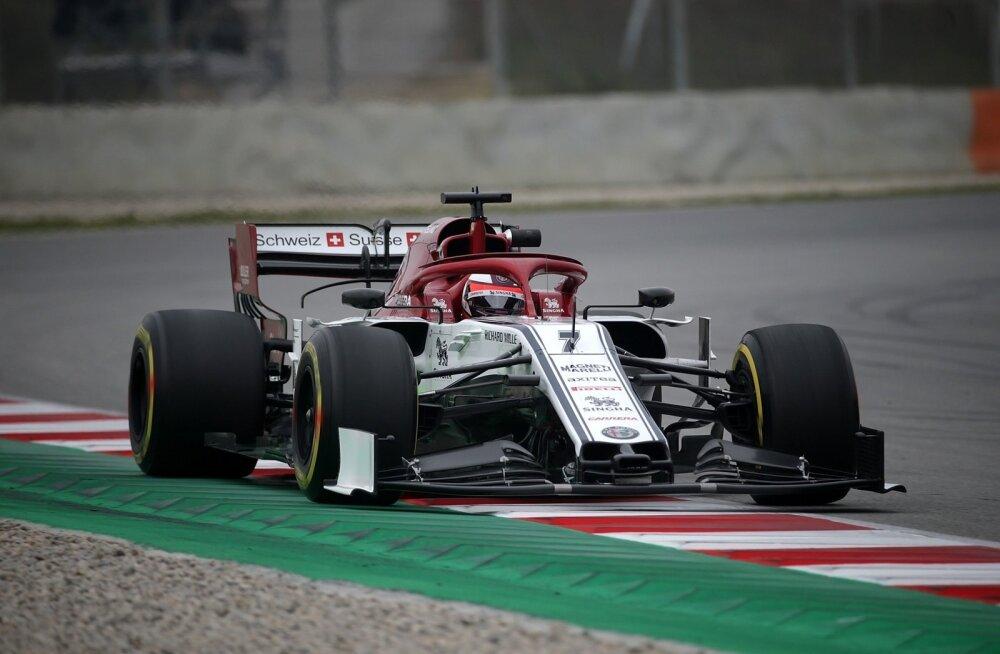 Kimi Räikkönen Barcelonas.