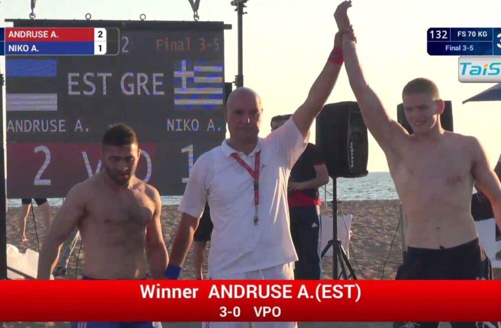 Aimar Andruse võitis MM-pronksi.