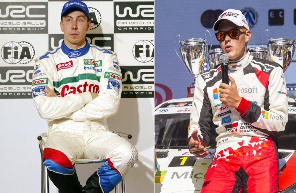 Markko Märtin ja Ott Tänak on esmakrodselt ühel võistlusel stardis WRC-autodega.