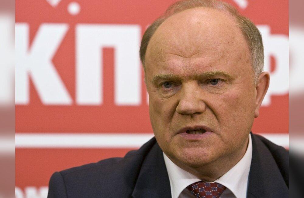 Vene kommunistide liider Zjuganov ründas destaliniseerimise plaani