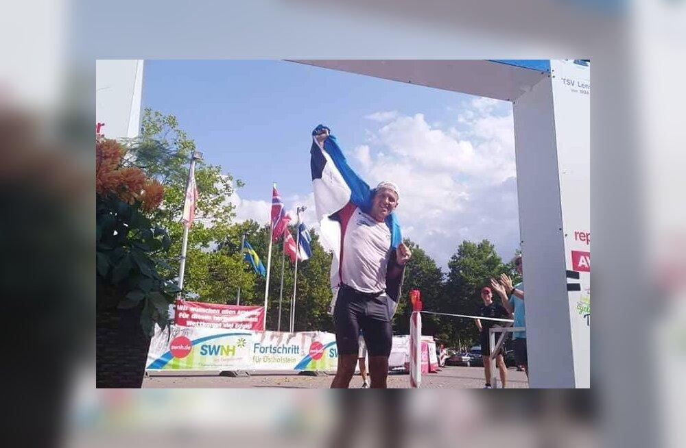 Saksa kolmekordsel ultratriatlonil purustati maailmarekord, Ratasepp teine