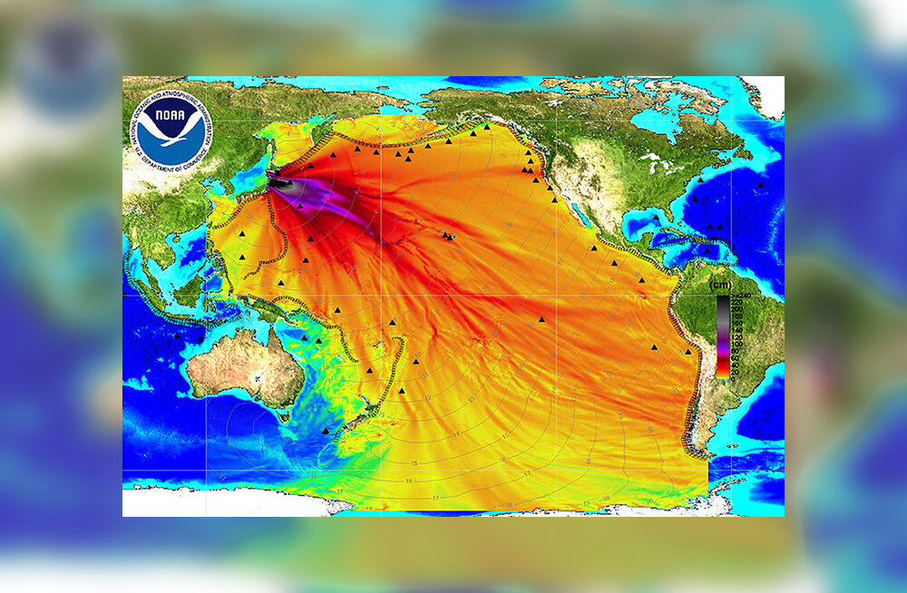 Kas tõesti näitab see kaart Fukushima radioaktiivse vee levikut?