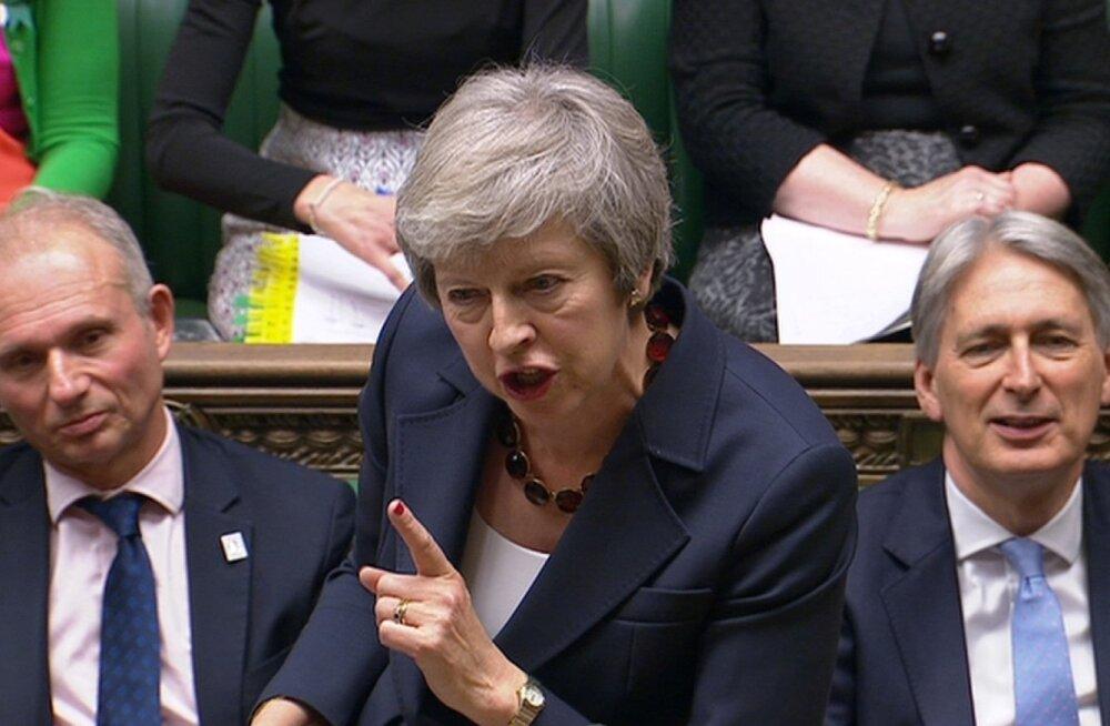 """Suurbritannia peaministril Theresa Mayl seisab ees Brexiti-teemaline """"grillimine"""" parlamendis"""