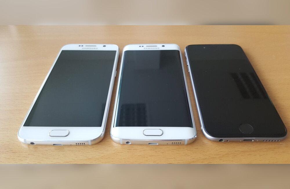 Titaanide heitlus: kas valida nutitelefoniks Apple'i iPhone 6, Samsungi Galaxy S6 või Galaxy S6 edge?